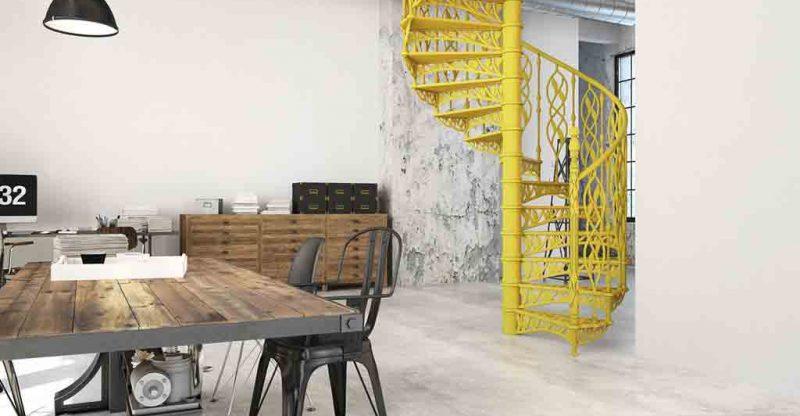 Spirale Treppen aus Metall im Innenbereich - Treppenwiki.de